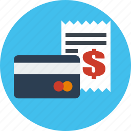 business, card, credit, finance, invoice icon