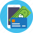 finance, business, mobile, money, credit, card