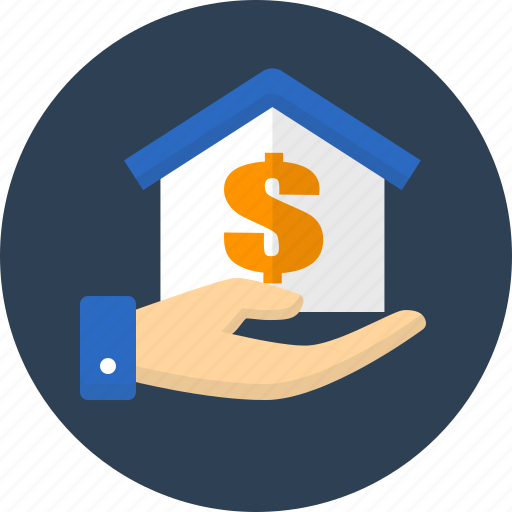 business, donation, finance, house, money icon