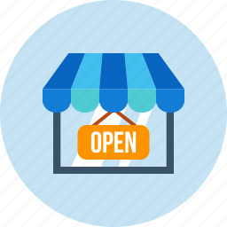 business, finance, open, shopping, store icon