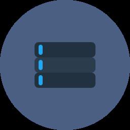 database, internet, server, storage, web icon