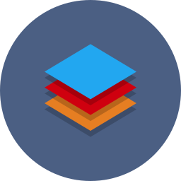 abstract, data, stack, type icon