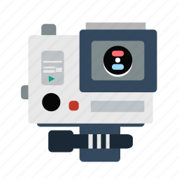 camera, digital, gopro, lens, photo, photography icon