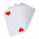 card, casino, gambling, heart, play