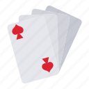 card, casino, gambling, poker, spade icon