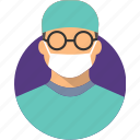 avatar, docter character, flat design character, flat design profession, profile, user icon
