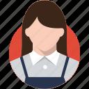 avatar, bakery waiter character, flat design character, flat design profession, profile, user icon