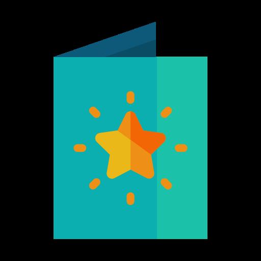 bright, card, greeting, light, star icon