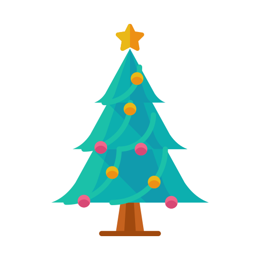 christmas, decorate, decoration, ornament, star, tree icon