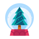 christmas, decorate, decoration, snowglobe, tree icon