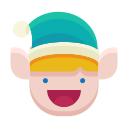 elf, emoji, emoticon, happy, smile icon