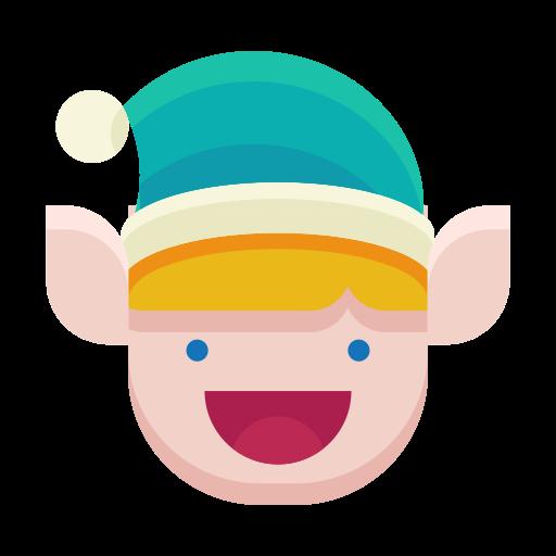 elf, emoji, emoticon, happy, smile icon