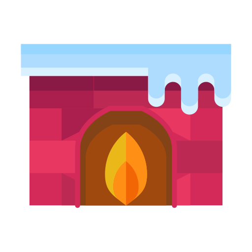 cold, fire, fireplace, flame, livingroom, winter icon