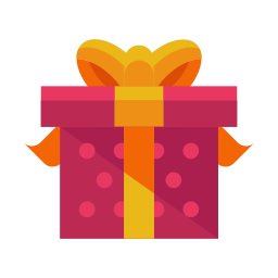 bow, box, gift, package, present, ribbon icon