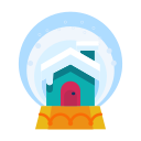 cabin, decorate, decoration, home, house, snowglobe icon