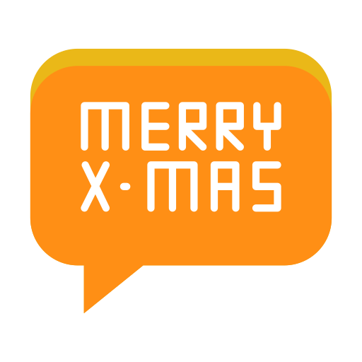 christmas, conversation, greeting, merry, message, text icon