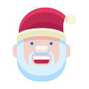 christmas, emoji, emoticon, man, santa, smile, smiley icon