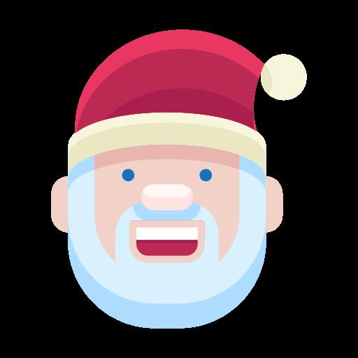 christmas, emoji, emoticon, man, santa, smile, smiley icon