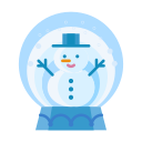 christmas, man, snow, snowglobe, snowman, winter