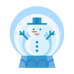 christmas, man, snow, snowglobe, snowman, winter icon