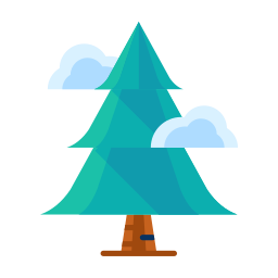 cloud, forest, plant, tree, winter icon