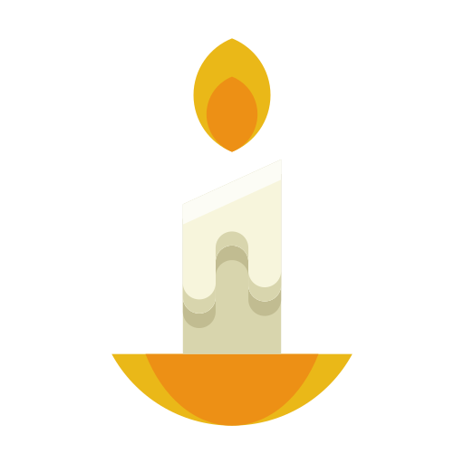 candle, decoration, fire, flame, light, wax icon