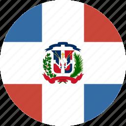 circle, dominican, republic icon