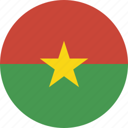 burkina, circle, faso icon
