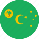 cocos, country, flag, islands, nation icon