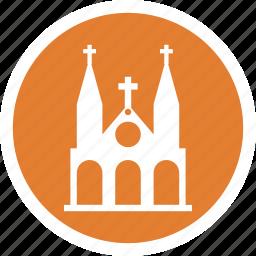 attraction, building, church, dame, notre, saigon icon