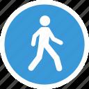 human, street, transport, walking icon