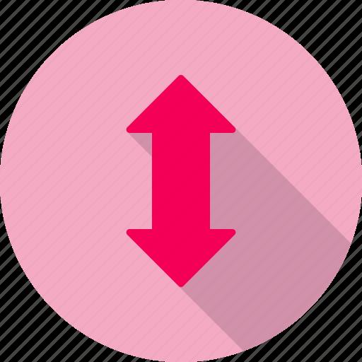 arrow, down, up icon