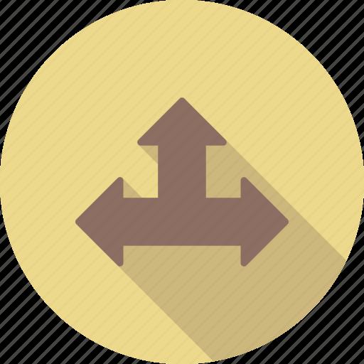 arrow, three, up icon