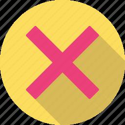 cancel, close, remove icon