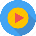 play, sport, video icon