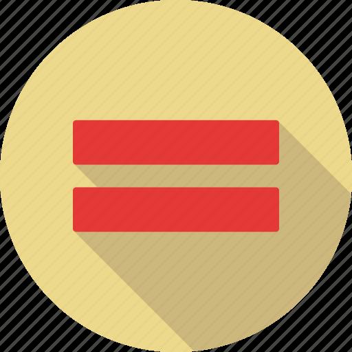 equal, math, sign icon