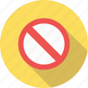 cancel, forbidden, sign, stop icon