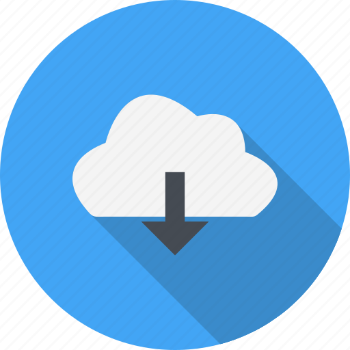 cloud, download, weather icon