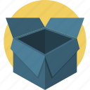 box, delivery, giftbox, open, package, shipping icon