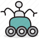 lunar rover, lunar vehicle, moon car, moon rover, moonwalker, moonwalker robot