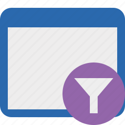 application, filter, window icon