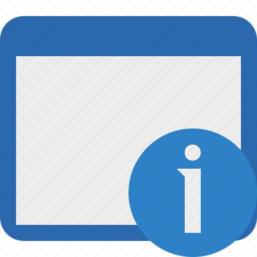 application, information, window icon