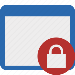 application, lock, window icon