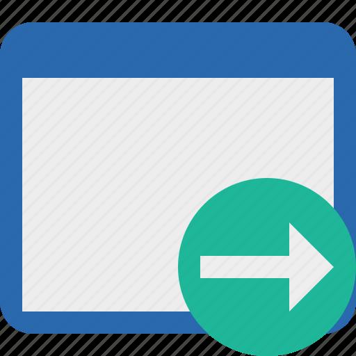 application, next, window icon
