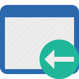 application, previous, window icon