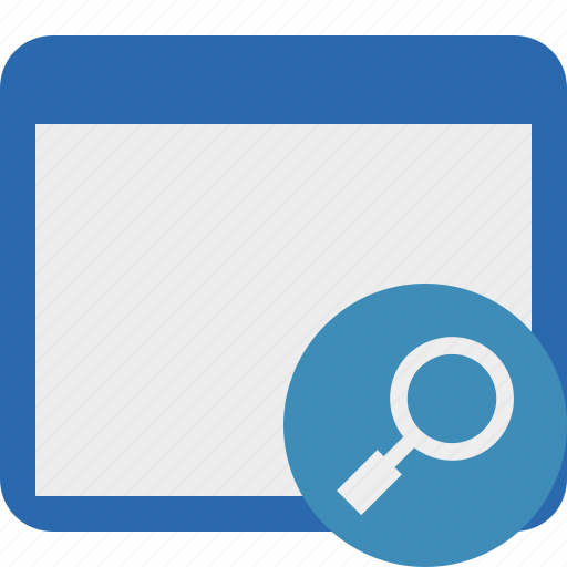 application, search, window icon