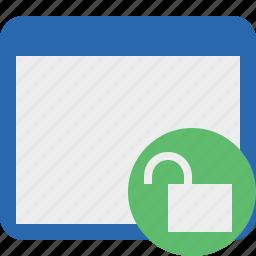application, unlock, window icon