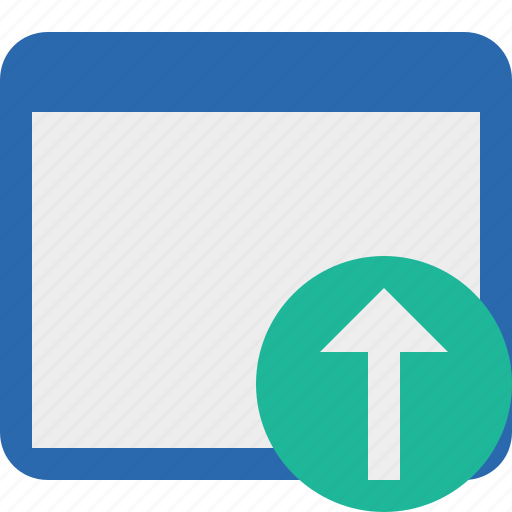 application, upload, window icon