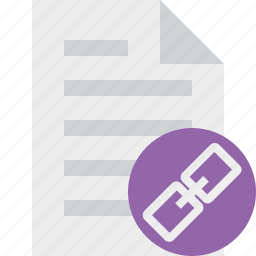 document, file, link, page, paper icon