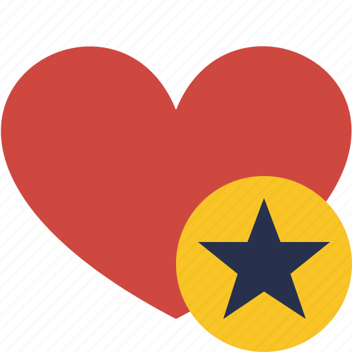 favorites, heart, love, star, valentine icon